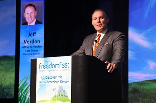Jeffrey M. Verdon at FreedomFest