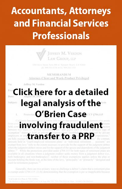 Legal analysis of the O'Brien Case Involving fraudulent transfer to a PRP