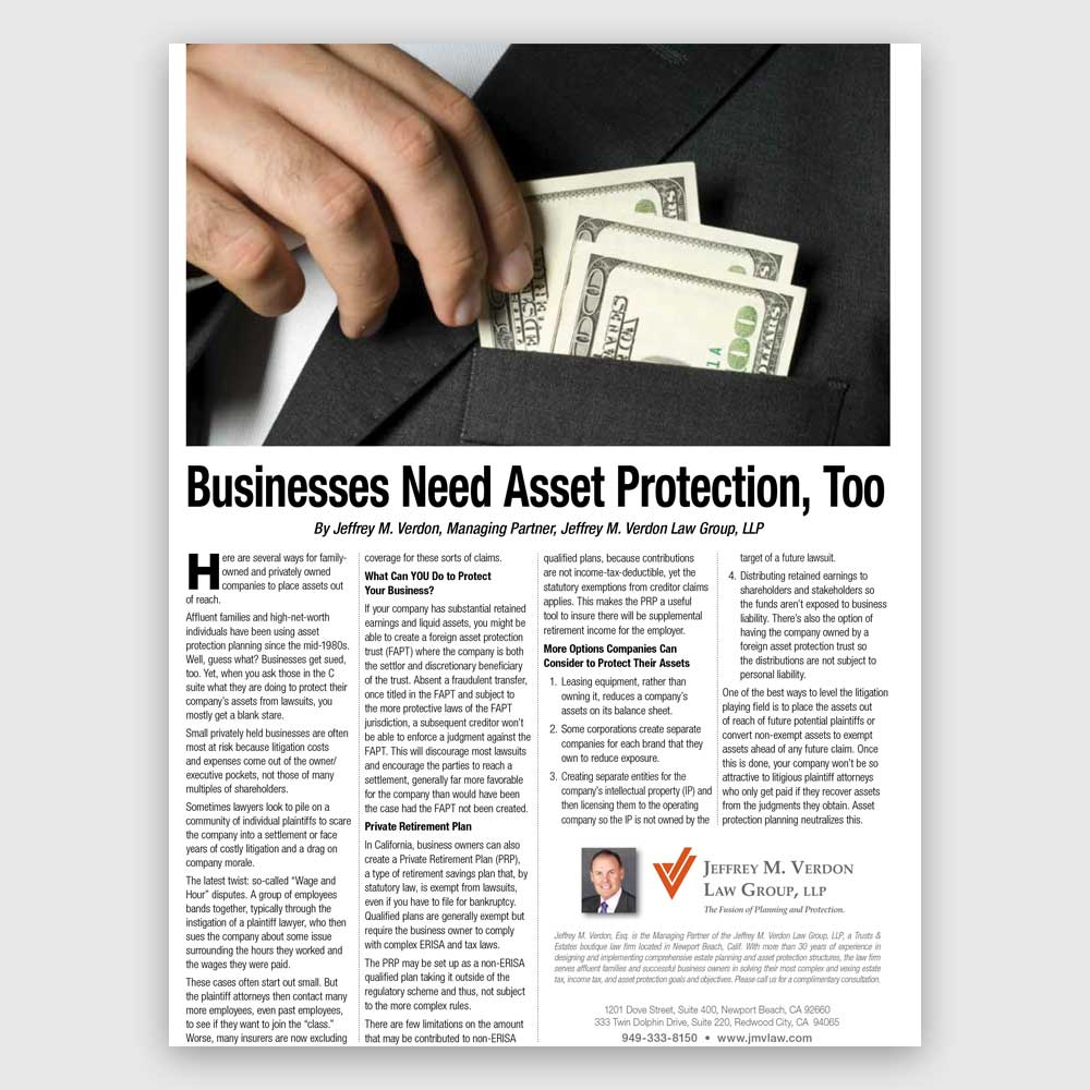 Businesses need asset protection too